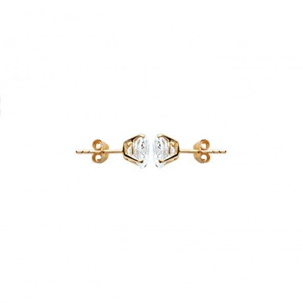 MJ Earrings Gold Plated 8 mm Zirconium