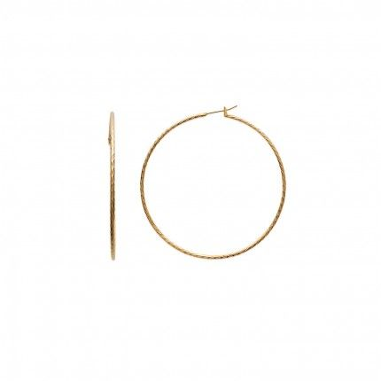 Gold Plated Chiseled Hoops