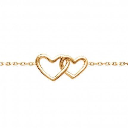 Gold Plated Hearts Bracelet
