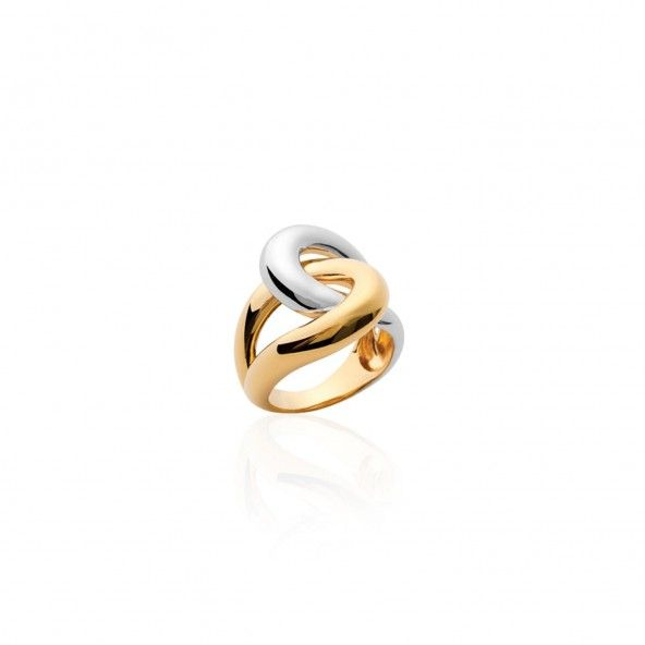 Gold Plated Bicolor Ring