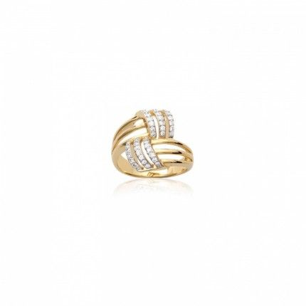 Gold Plated Ring With Zirconium