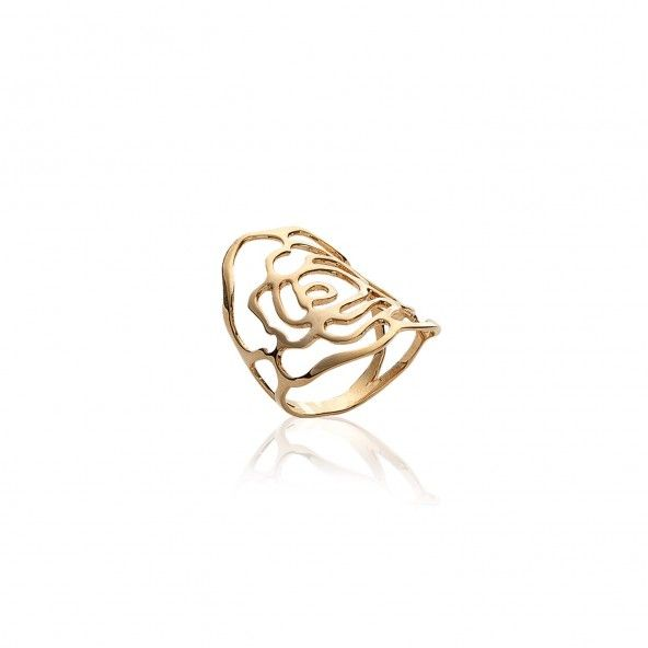 Gold Plated Rose Ring
