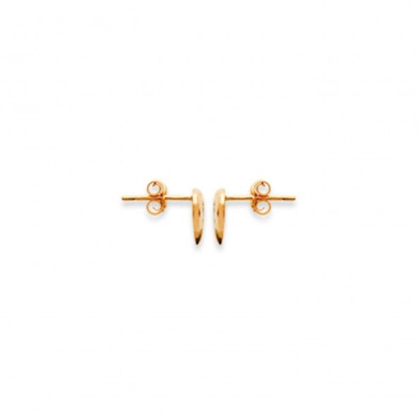 Gold Plated Heart Earrings With Zirconium