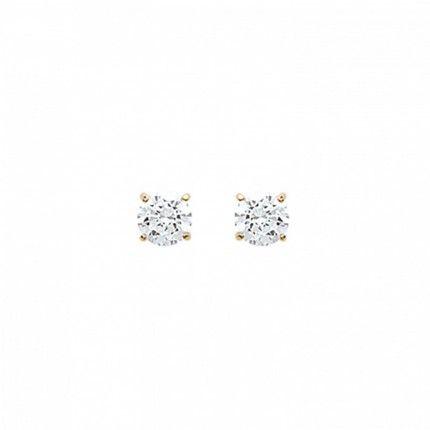 MJ Earrings Gold Plated Zirconium