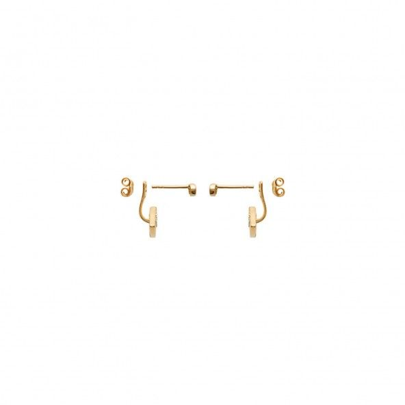 MJ Earrings Gold Plated Zirconium Turquoise