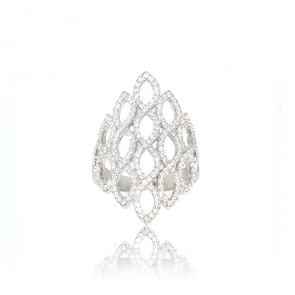 Zirconium Sterling Silver 925/1000 Ring
