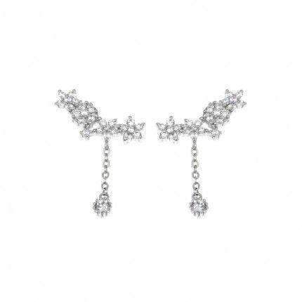 Boucles d'Oreilles Zirconium Argent 925/1000