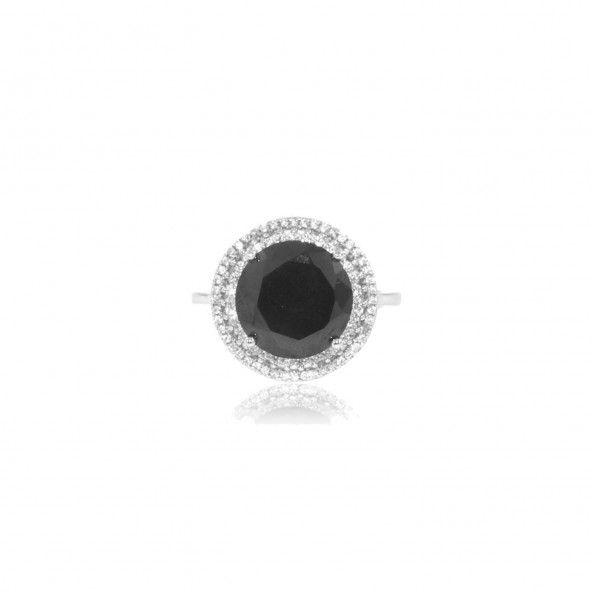 Bague Onix Zirconium Argent 925/1000