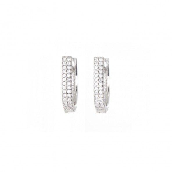 MJ Zirconium Sterling Silver 925/1000 Earrings