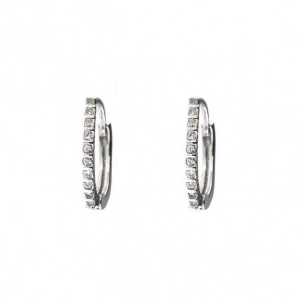 Boucles d'Oreille Zirconium Argent 925/1000