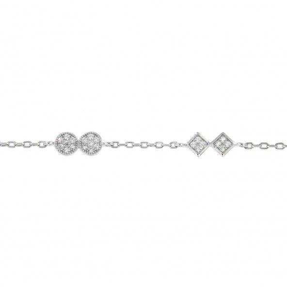 Bracelet Zirconium Argent 925/1000