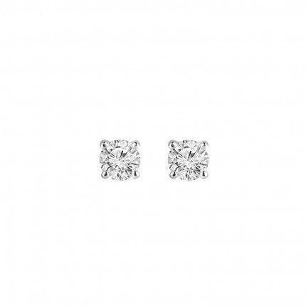 Boucles d'Oreille Solitaire Zirconium Argent 925/1000