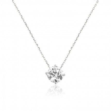 MJ Zirconium Sterling Silver 925/1000 7mm Necklace