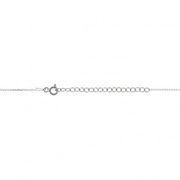 Collier Solitaire Zirconium 5 mm Argent 925/1000