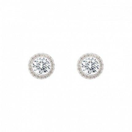 MJ Sterling Silver 925/1000 6 mm Earrings