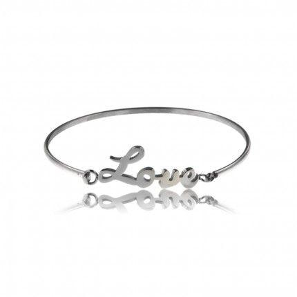 MJ Stainless Steel Love Rigid Bracelet