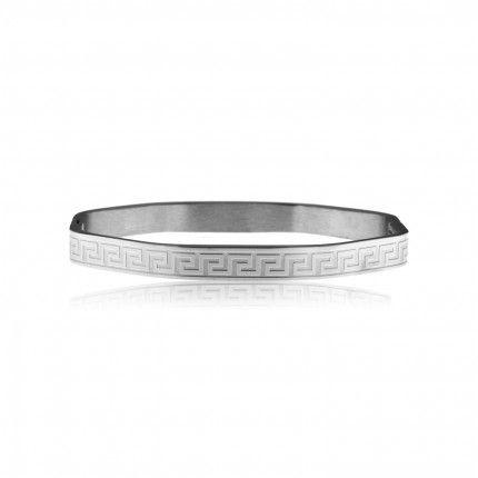 MJ Stainless Steel Pattern Rigid Bracelet