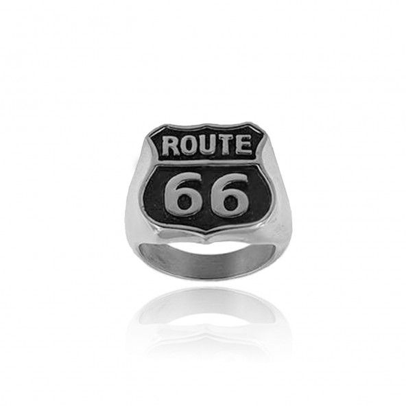 MJ Ring Route 66 Stainless Steel