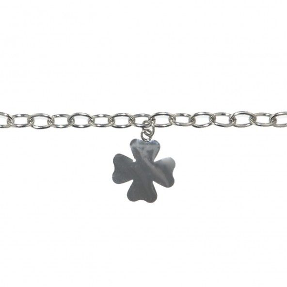 Bracelet Trèfles à 4 feuilles Acier