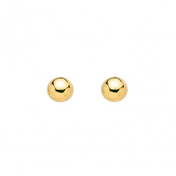 Boucles d'Oreilles Demi Boules Or 375/1000