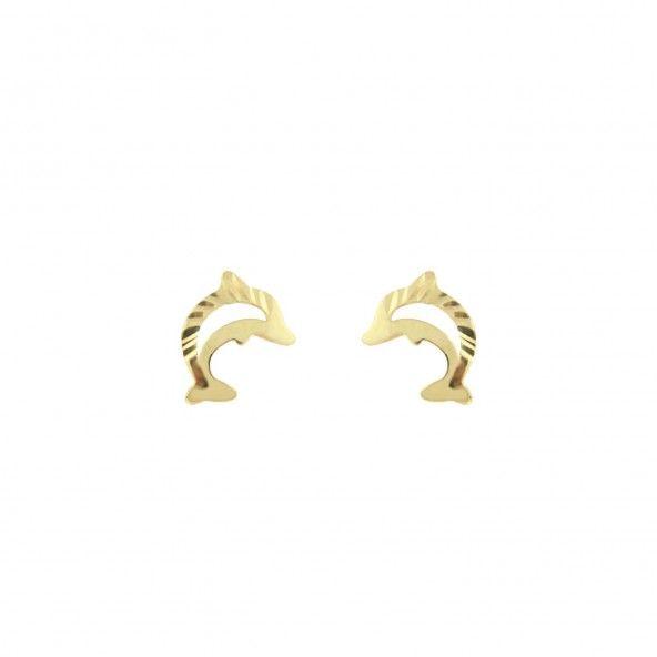 Brincos Golfinho MJ Ouro 375/1000