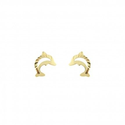 Boucle d'Oreille Dauphin Or 375/1000