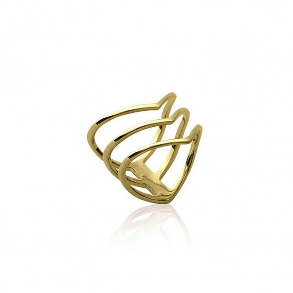 3 Rings Gold Plated Ring