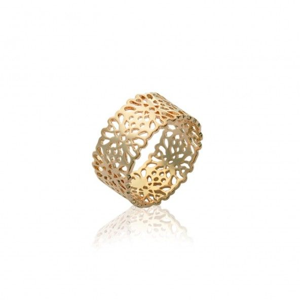Flowers Gold Plated Ring