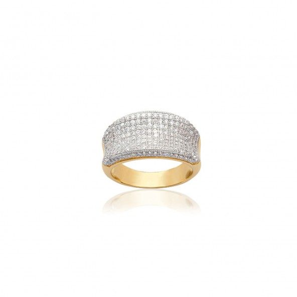 Gold Plated Ring with incrusted Zirconium