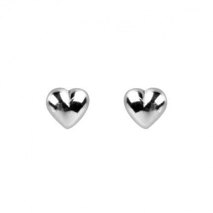 MJ Heart Earrings  925/1000 Silver