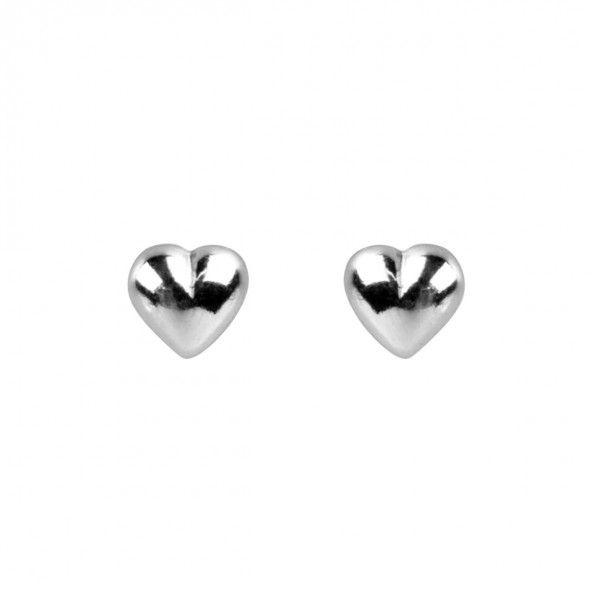 Boucles d'oreilles en forme de coeur en argent 925/1000