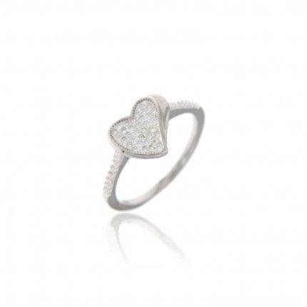 Heart Zirconium Sterling Silver 925/1000 MJ Ring