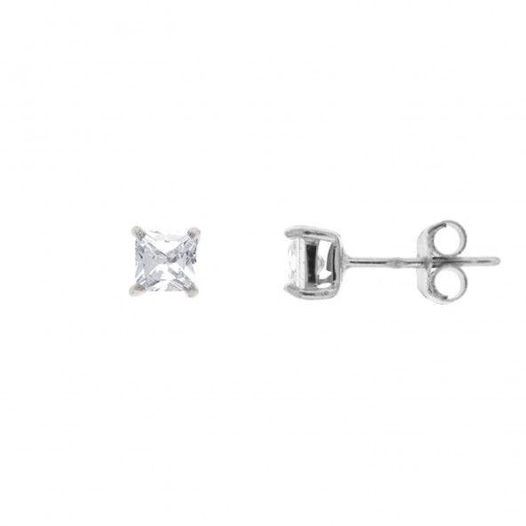 Boucles d'Oreilles Zircon 4 mm Argent 925/1000