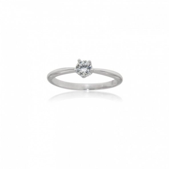 Sterling Silver 925/1000 with Zirconium Solitaire