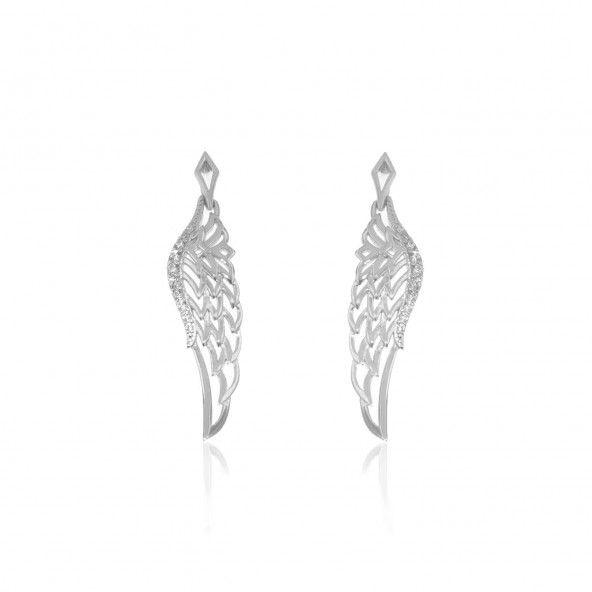 Angel Wings Sterling Silver 925/1000 Earrings