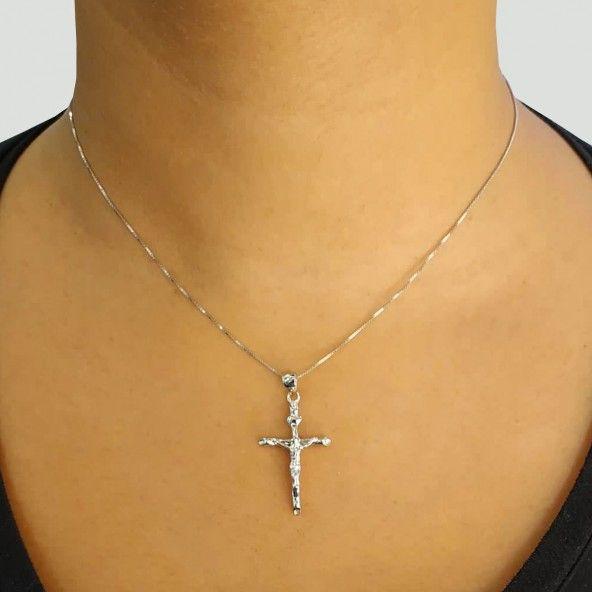 Pendente Prata 925/1000 Cruz Cristo