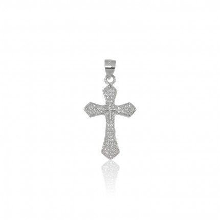 Petit Pendentif Jésus Christ sur Croix en argent 925/1000