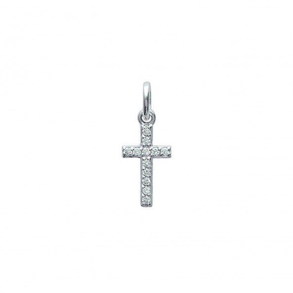 Pendente Prata 925/1000 Pequena Cruz Zircónias