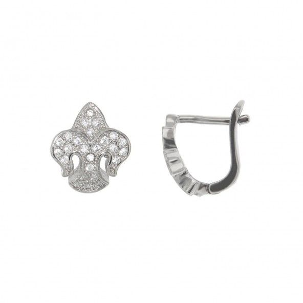 Sterling Silver 925/1000 Earrings with Zirconium Stones