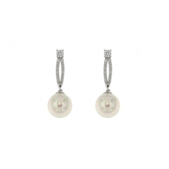 Pearl Earrings Sterling Silver 925/1000