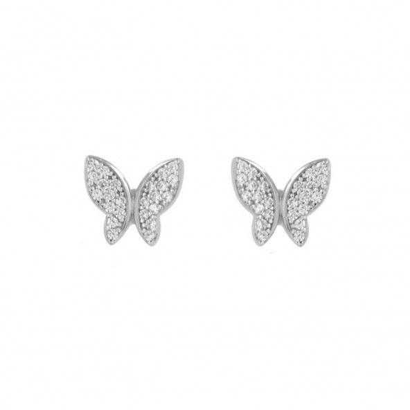 Butterfly Earrings Sterling Silver 925/1000