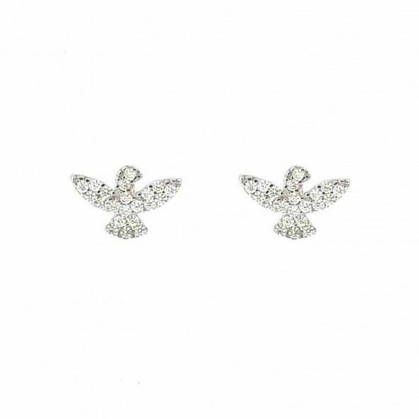 Bird Earrings Sterling Silver 925/1000