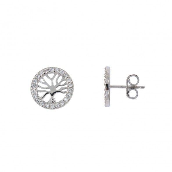 Tree of Life Earrings Sterling Silver 925/1000