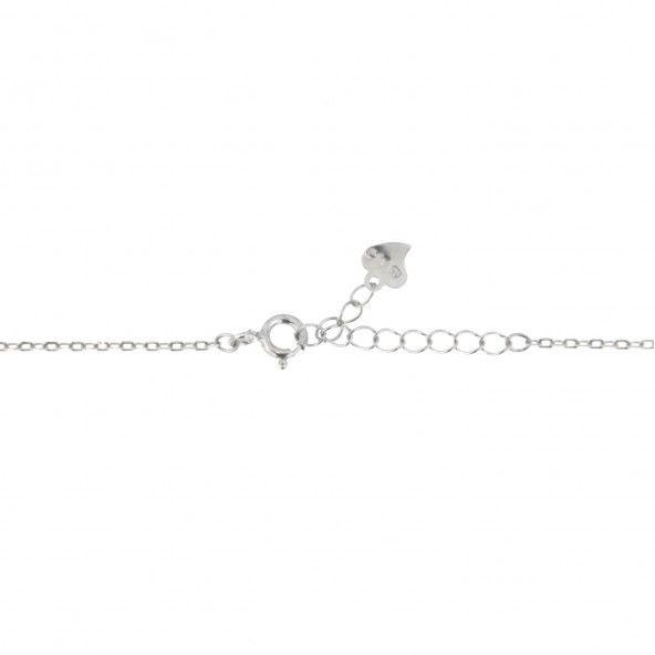 Necklace Flower Silver 925/1000 with Zirconium Stones