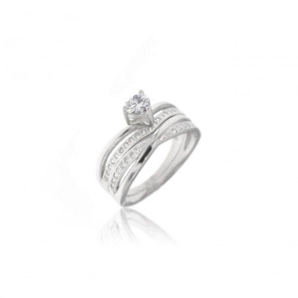 Ring Solitaire Zirconium Silver 925/1000