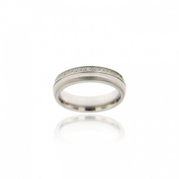 MJ Silver 925/1000 Alliance with Zirconium Stones