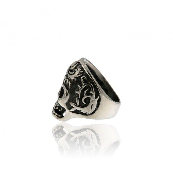 Steel Ring Skull