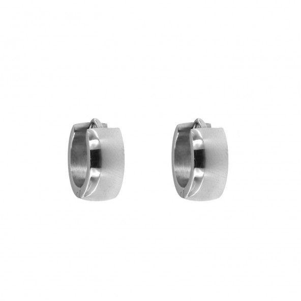 Steel Hoop Earrings