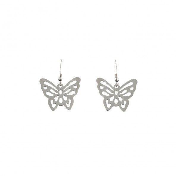 Butterfly Earrings in Steel