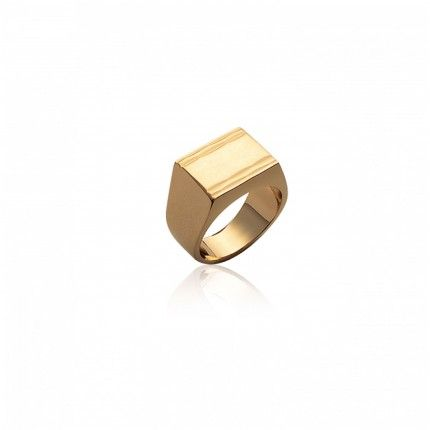 Gold Plated Signet Ring MJ